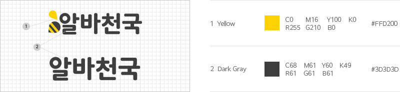 Yellow(#FBAF3F), Dark Yellow(#F7971C), Gray(#58585a), Dark Gray(#231F20)